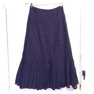 Dresses & Skirts - Long Black Pin Striped Skirt
